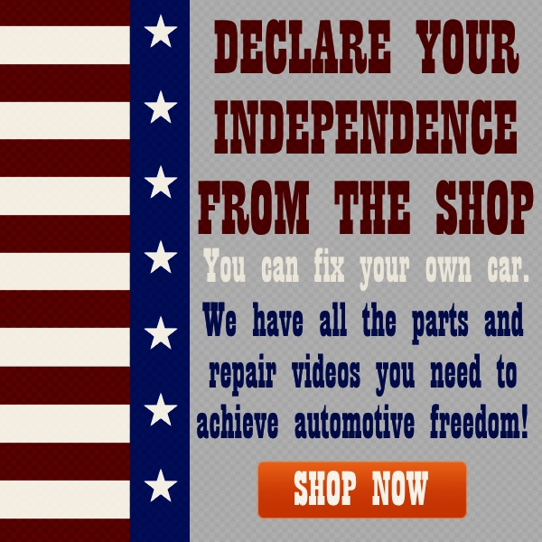DECLARE your independence from the shop. you can fix your car! we have all the parts and repair videos you need to achieve automotive freedom. shop now//>